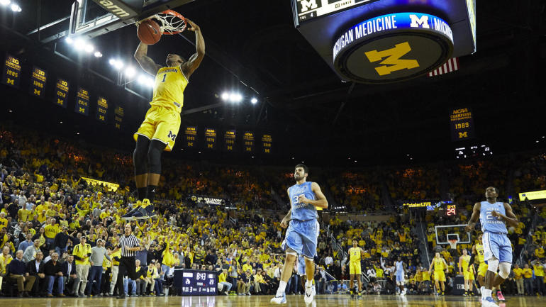 Michigan Defeats UNC 84-67 Wed Nov 28, 2018