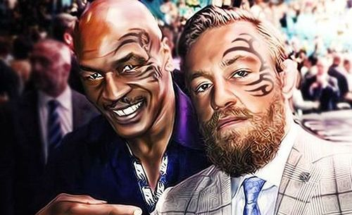Mike Tyson with Conor McGregor