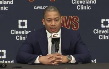 Cavs Head Coach Tyronn Lue at Media Day Speaking on LeBron Rumors, Kyrie, Kevin Love, Isaiah Thomas, Derrick Rose Starting